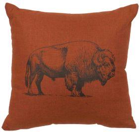 Bison Ridge Bison Linen Pillow